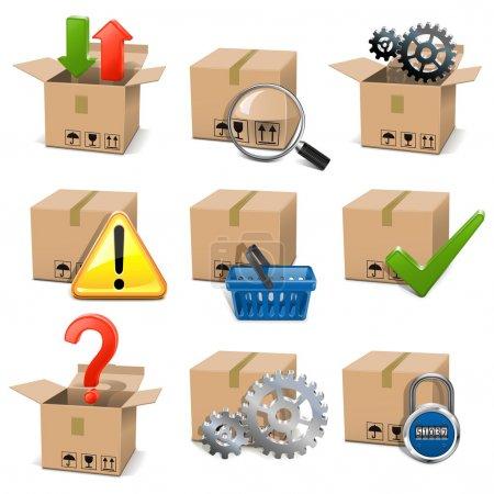 Vector Shipment Icons Set 8