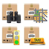 Vector Shipment Icons Set 10