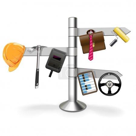 Illustration pour Pointeur d'emploi vectoriel - image libre de droit