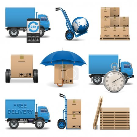 Photo for Vector Delivery Icons Set 4 - Royalty Free Image