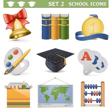 Vector School Icons Set 2...