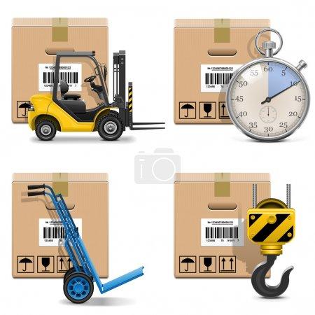 Vector Shipment Icons Set 12