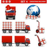 Vector Christmas Delivery Set 4