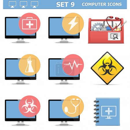 Vector Computer Icons Set 9