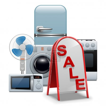 Vector Household Appliances Sale