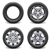 Vector Wheels isolated on white background