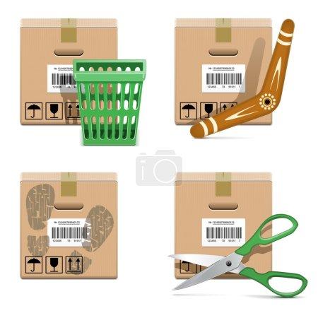Vector Shipment Icons Set 33