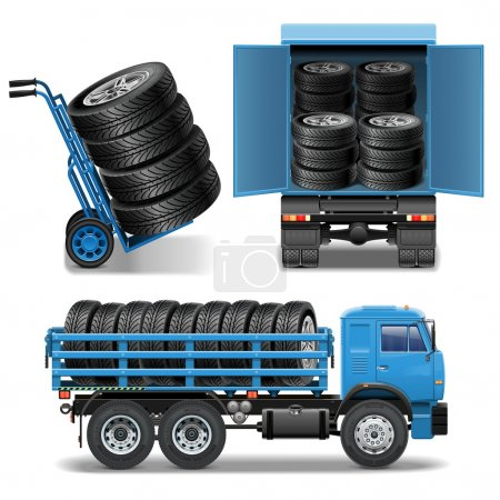 Vector Tire Delivery Icons