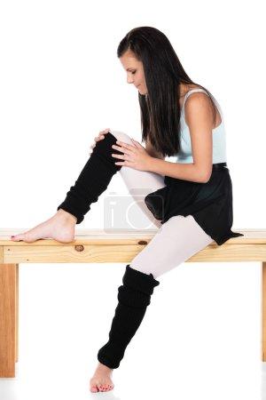 Injured modern dancer