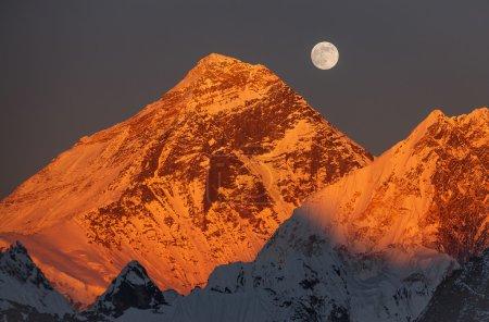 Golden Pyramid Mount Everest Sunset