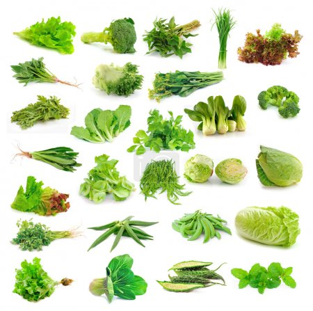 Vegetables collection isolated on white background...
