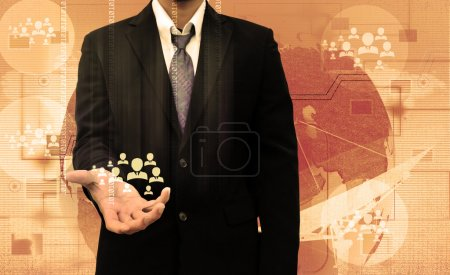 Photo for Businessman Choosing the right person - Royalty Free Image