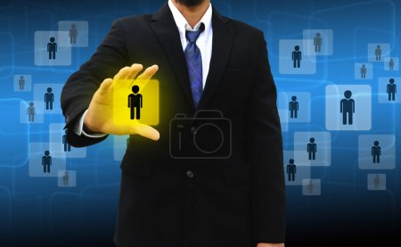 Businessman Choosing the right person