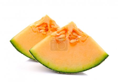 Photo pour Cantaloup tranches de melon - image libre de droit