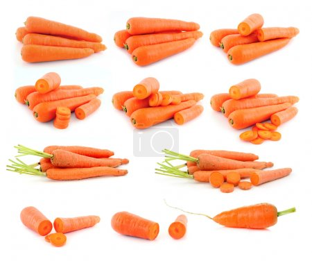 Photo for Carrot isolated on white background - Royalty Free Image