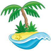 Vector illustration Cartoon island