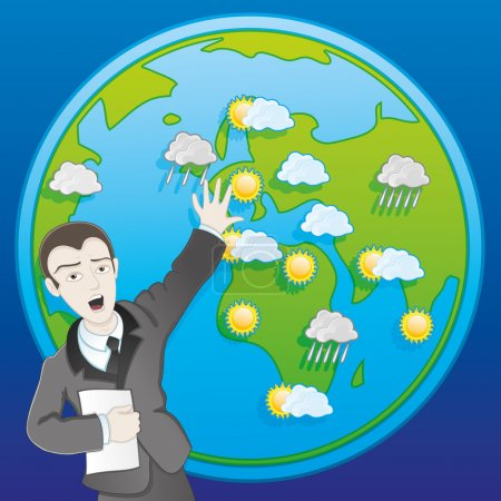 Vector illustration. Weather forecast.