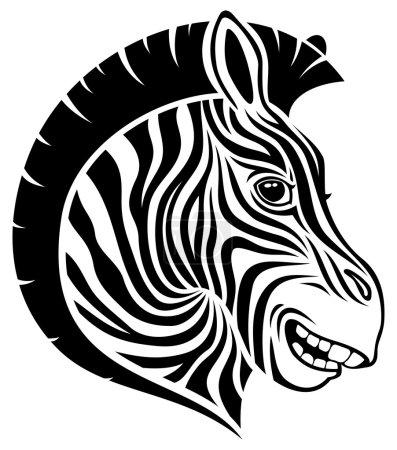 Zebra sign on white.
