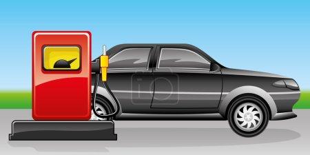 Vector illustration. Car.