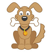Vector Cartoon dog isolated on white background