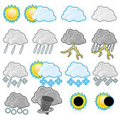 Vector Weather icon set isolated on white background
