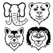 Animal signs on white