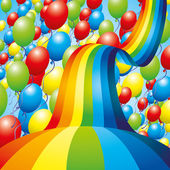 Background Balloons and rainbow