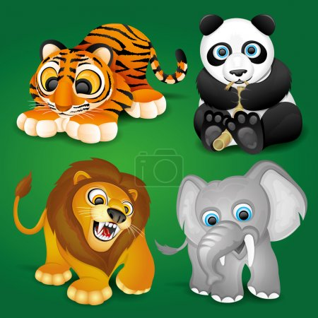 Vector set. Cute animals.