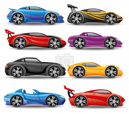 Vector set. Car icons.