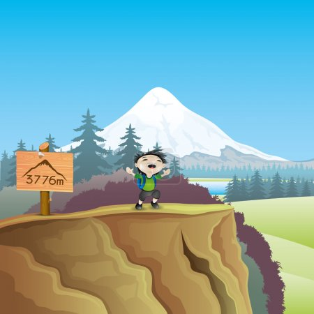 Illustration for Vector illustration. Man and nature. - Royalty Free Image