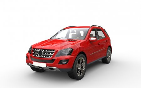 Red SUV 3D