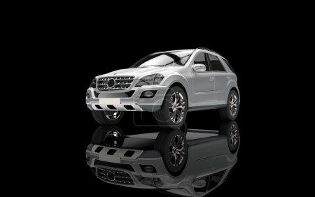 Silver SUV 3D