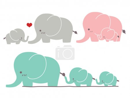 Illustration for Cute Elephant - Vector File - Royalty Free Image