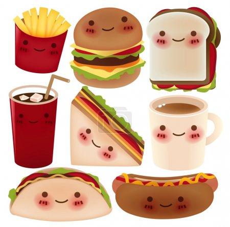 Illustration pour Fast Food Collection - Fichier vectoriel - image libre de droit