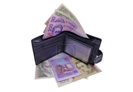 Photo pour Beaucoup d'argent dans la bourse, garder l'argent, milieux d'affaires, l'argent de l'abondance - image libre de droit