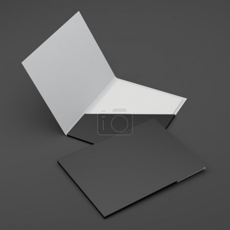 Photo for Composition of paper folders isolated - Royalty Free Image