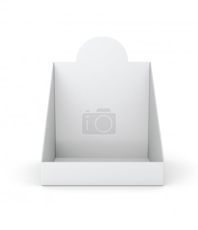Photo for Blank empty holder or box display for products isolated on white. 3d render - Royalty Free Image