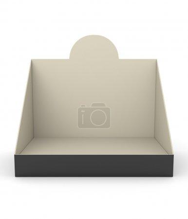 Blank empty holder or box display