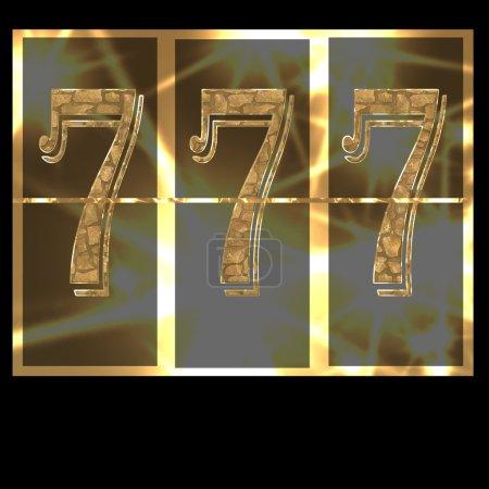 Lucky seven 777 slot machine