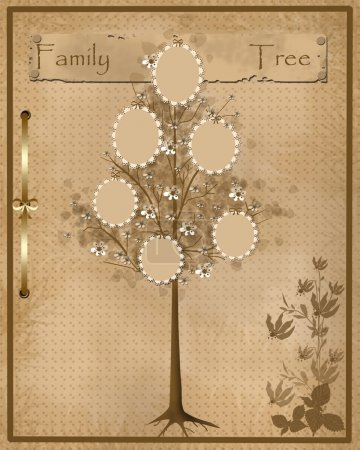 Family tree design for your photos into frames
