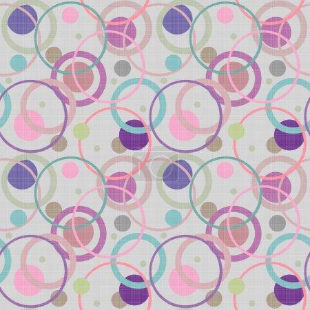 abstrakte Kreise retro nahtlose Muster Hintergrund