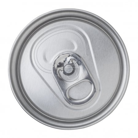 Photo for Beer canned top view isolated on white background - Royalty Free Image