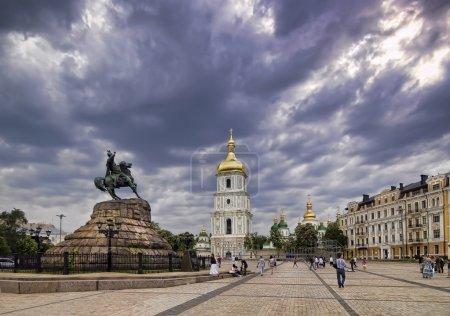 Photo pour Place de Sofia à Kiev - image libre de droit