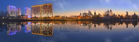 Photo for Izmailovo Kremlin in Moscow in the evening with reflection - Royalty Free Image