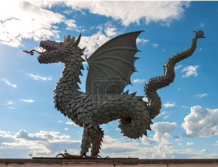 Statue of dragon - symbol of the city Kazan
