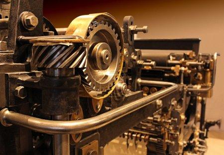 ancienne imprimerie, engins mécaniques