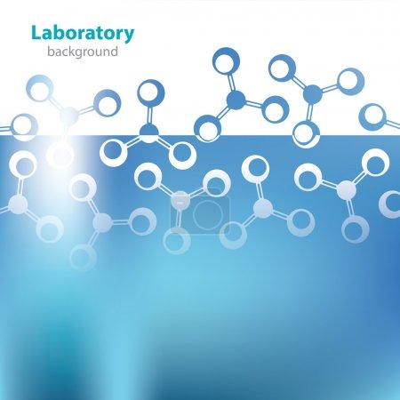 Illustration pour Contexte du laboratoire médical . - image libre de droit