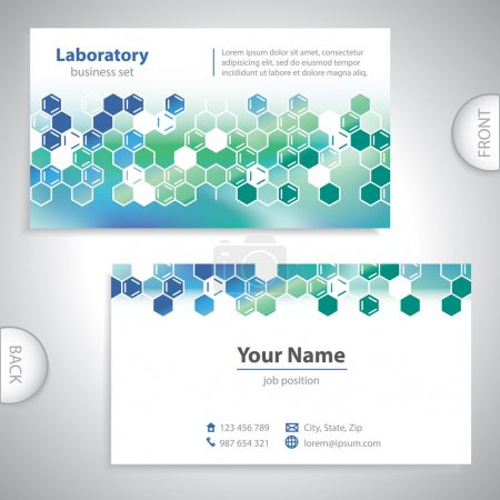 Photo for Universal sea-green medical laboratory business card. - Royalty Free Image