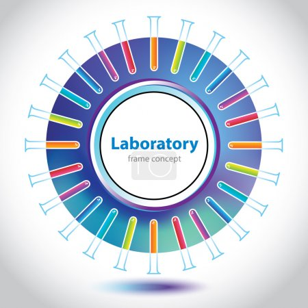 Illustration for Abstract colorful medical laboratory circle element. - Royalty Free Image