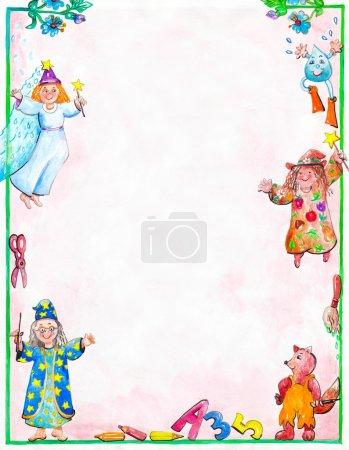 Photo pour Diplôme pour les enfants avec des fées et magiciens écureuil - image libre de droit